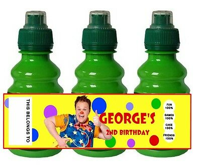 PERSONALISED Mr Tumble FRUIT SHOOT BOTTLE LABEL / WRAPPER Party Bag Fillers