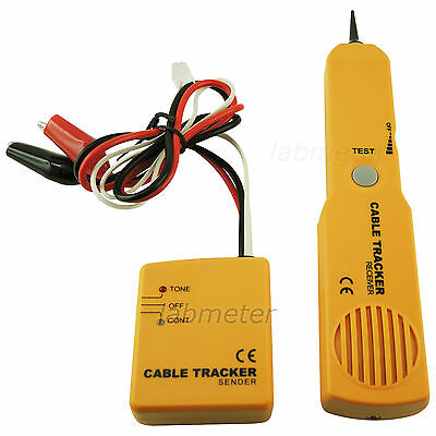 Network Phone Cable Wire Toner Tracer Tracker Tester Kit w/ Sender and Receiver