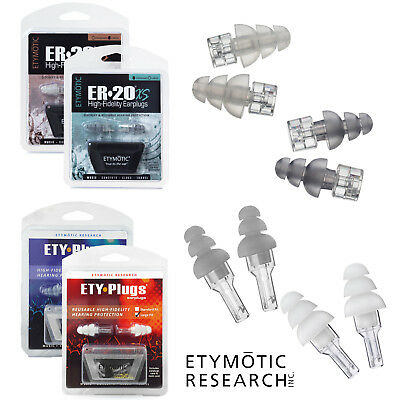 ETYMOTIC ER20 & ER20XS EARPLUGS ETY-Plugs Hi-Fi Music Ear Plugs - FREE UK P&P