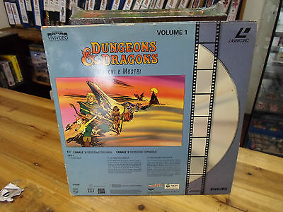 Dungeons & Dragons Cartoon Show Laserdisc TSR Philips *Extremely Rare* D&D