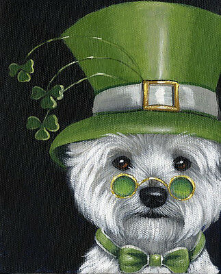 Westie Elder Leprechaun Flag  Free Ship Usa Rescue