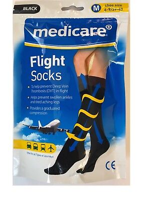Medicare UNISEX Flight Socks Prevents Deep Vein Thrombosis DVT Size MEDIUM NEW