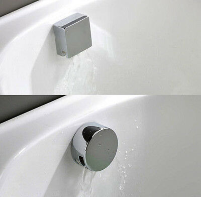 Bathroom Chrome Easyclean Overflow Bath Filler & Click Push Button Waste