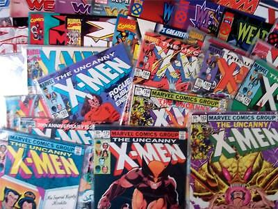 JOBLOT of 6 X-MEN MARVEL COMICS - 1980's to 00's - ALL BAGGED & DIFFERENT