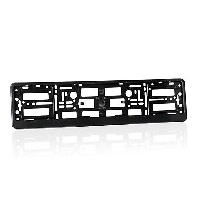 2x Black ABS  Number Plate Surrounds Holder Frame for MERCEDES-BENZ RM 2