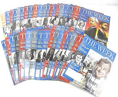 Lot of 37 - The Week Magazine 2007 Issue - Not Complete Set