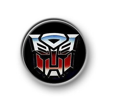"""TRANSFORMERS / 1"""" / 25mm pin button / badge / Marvel / Autobots / Decepticons"""