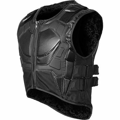 SPEED AND STRENGTH MENS LIVE BY THE SWORD PROTECTIVE ARMORED VEST BLACK