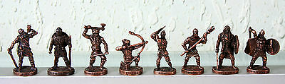 Lot of 8 SOLDIERS VIKINGS Metal Figures CHOCOLATE EGG KINDER SURPRISE Free Shipp