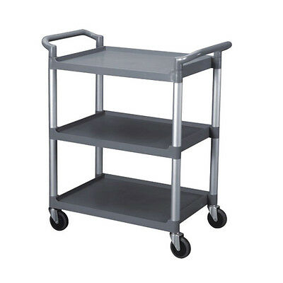 Bus Cart / Utility Cart For Commercial Kitchen. 3 Shelves - Grey