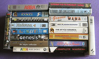 Choose from MUSIC VHS VIDEOS inc GENESIS, MADONNA, CAMEL, STYLE COUNCIL & More