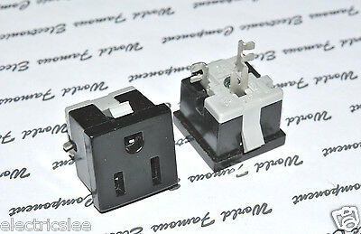 1pcs-EAGLE (Cooper Wiring) 49-7BK-BU 15A-125V Outlet - Snap in Receptacle