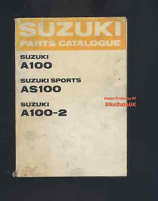 Suzuki A100,AS100,A100-2 (1967-1970) Fully Illustrated Parts Catalogue AS/A 100