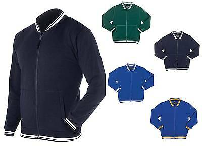 Junior College Jacket 3JCJ Varsity Club Team School Winter Fleece Stripes