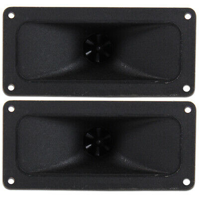 2x Black Piezo Horn Flare Tweeters Spare Speaker Replacement Parts 300W