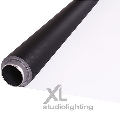2m x 3m White+Black Photographic Background Vinyl DUO - High / Low Key