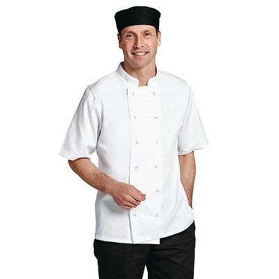White Chefs Jacket Short Sleeve Chef Coat Chef Whites Chefs Uniform Unisex