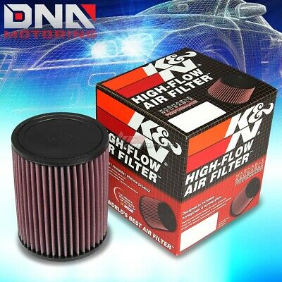 "K&n Kn Universal Rubber Round Straight 3"" Air Filter 6.5"" Height+Clamp Ru-2820"