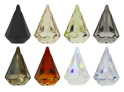Genuine SWAROVSKI 6022 XIRIUS Raindrop Crystals Pendants * Many Sizes & Colors