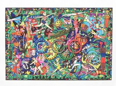 """James Rizzi """"Olympic Spirit"""" 3-D Construction Lithograph"""