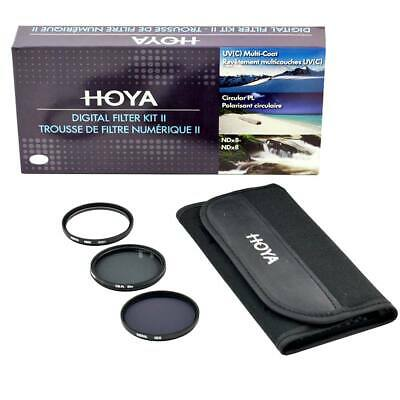 Hoya 58mm Digital Filter Kit: UV(C) + CPL/Circular Polarizer + NDx8/ND8 + Pouch
