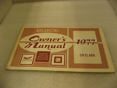 Buick 1977 Skylark - Owner's Manual