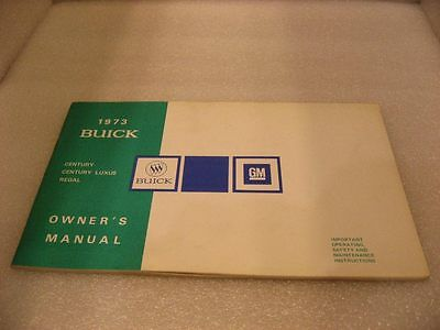 Buick 1973 Century/Century Luxus/Regal - Owner's Manual