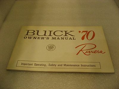 Buick '70 Riviera - Owner's Manual