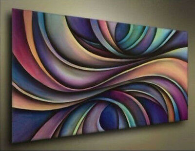 New - Huge Modern Abstract Wall Decor Art Canvas Oil Painting Canvas No Frame