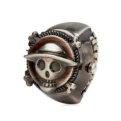 One Piece Quartz Movement Analog Finger Ring Watch with Copper Plated Alloy