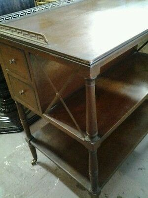 Antique Wooden Tea Table / Serving Cart