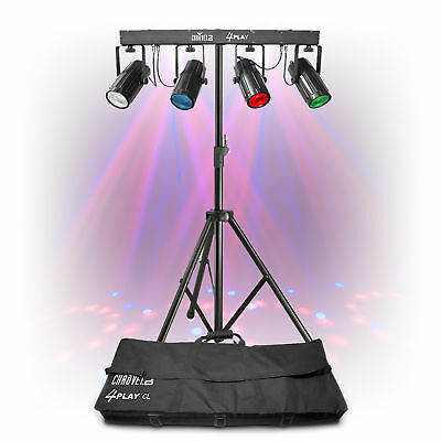 Chauvet 4 Play Colour DMX Moonflower Light Rig + Lighting Stand Party Disco DJ
