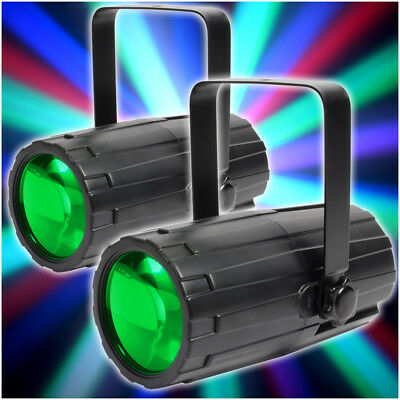 2x Beamz Effect Colour LED Lights Karaoke Disco Party DJ Lighting Package