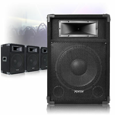 "4x 12"" Active Powered DJ PA Speakers AUX-IN"