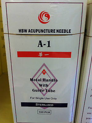 """HWB  #38x1.5"""" (0.18mmx40mm) Acupuncture needle"""