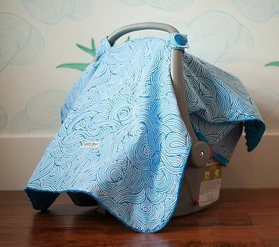 "CARSEAT CANOPY BABY CAR SEAT CANOPY COVER BLANKET COTTON BRAND NEW "" NOA """