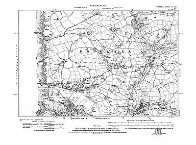 Woodford 1907 Shop repro Corn-1-SW-SE Cornwall Old map of Morwenstow