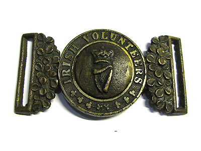 Victorian London Irish Rifles Volunteers Belt Buckle c1870