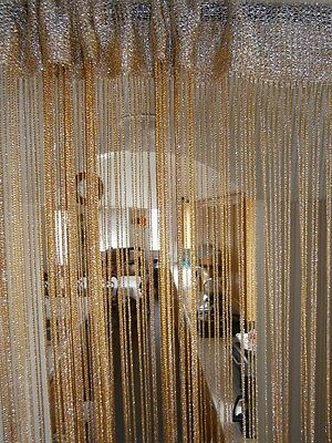 """40x90"""" Metallic String Curtain for Windows, Wall Decor, Door Divider and Party"""