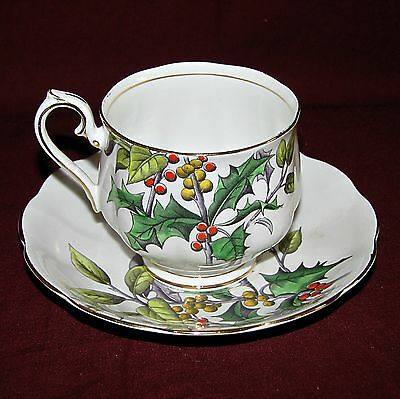 Royal Albert china Flower of the Month Holly pattern cup & saucer