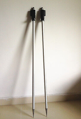 """2 PCS NEW 2.15m ( 7 ft ) Prism pole for Topcon total station 5/8""""x11 thread port"""
