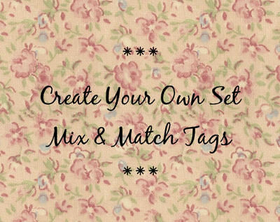 hang tags mix match create your own set of 4 tags gift tags