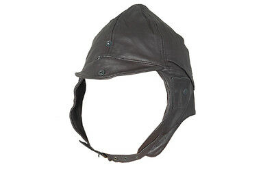 Vintage Pilot Style Real Leather Hat/Cap Top Quality Soft Leather