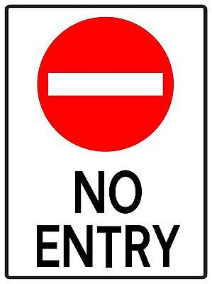 No Entry Sign  - 300 X 225Mm - Metal Sign - Traffic Sign