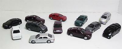 1:100-SCALE MODEL VEHICLES-PLASTIC CARS IN 4 STYLES & 6 COLORS--14 CARS PER SET