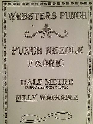 Punch Needle Embroidery Quality Fabric 100 x 50 cm From Webster Craft