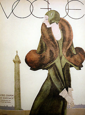 vintage fashion  Vogue Art print poster for glass frames 90cm x 60cm