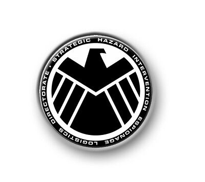 "SHIELD / 1"" / 25mm pin button / badge / Marvel / Thor / Iron Man / The Avengers"