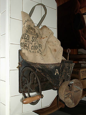 "Pearce's Improved ""Cahoon"" Hand Crank Broadcast Seed Sower by Goodell Co. N.H."