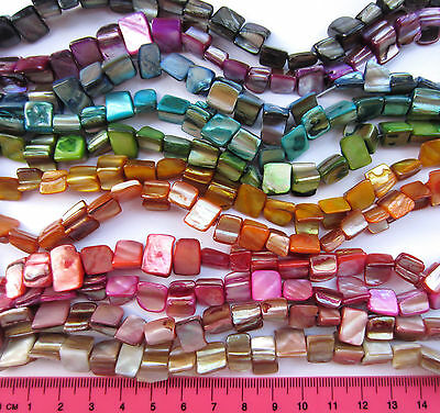 "1 x 15"" strand (approx 40 beads) irregular shell nugget beads choose colour S9"
